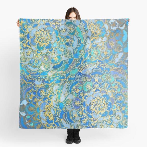 Blue Sapphire Mandalas (Customer Request) Scarf