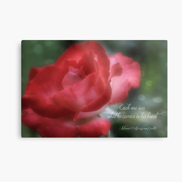 See With Your Heart Metal Print