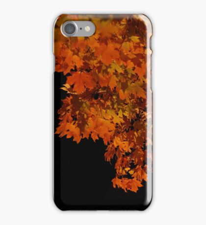 ablaze - fall leaves at night iPhone Case/Skin