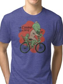 Mr. Cthulhu's Holiday Tri-blend T-Shirt