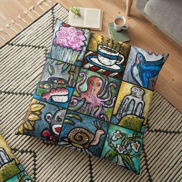 Bright Blox Happy Feel Good Print Smile Floor Pillow