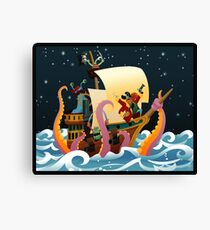 Pirate Monsters Canvas Print