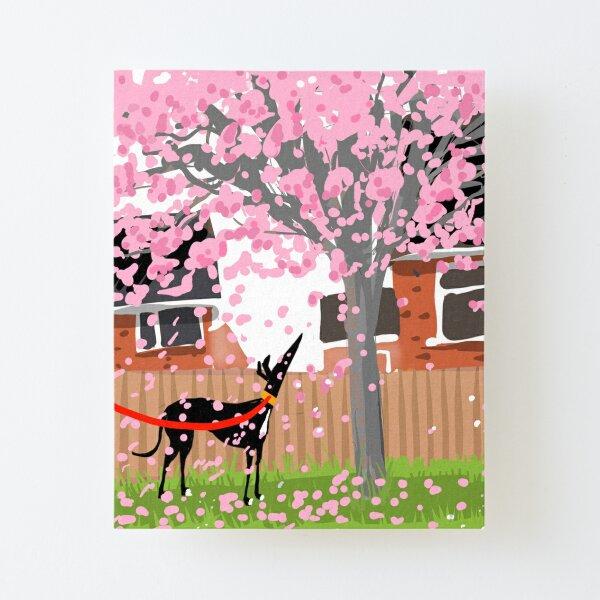 Blossom Hound Canvas Mounted Print