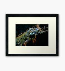 Sleepy Dinosaur Framed Print