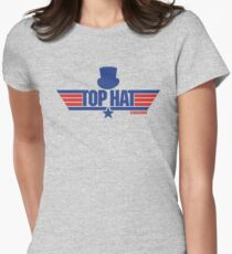 Top Hat (Star-Burns) Women's Fitted T-Shirt