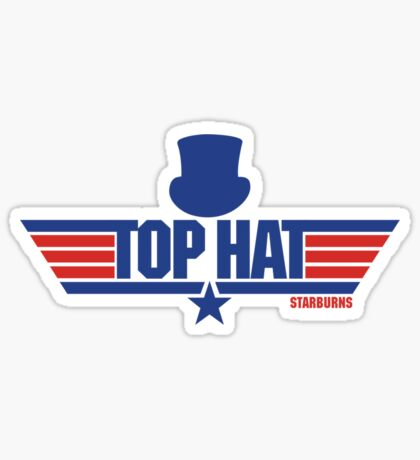 Top Hat (Star-Burns) Sticker