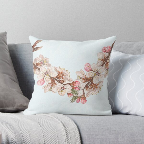 Spring is the vehicle of hope- blossom branch  Throw Pillow