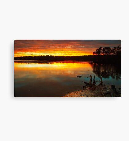 Burning Lake Canvas Print