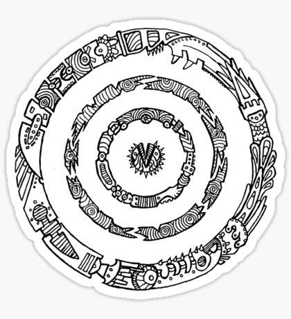 Metal Mandala Sticker