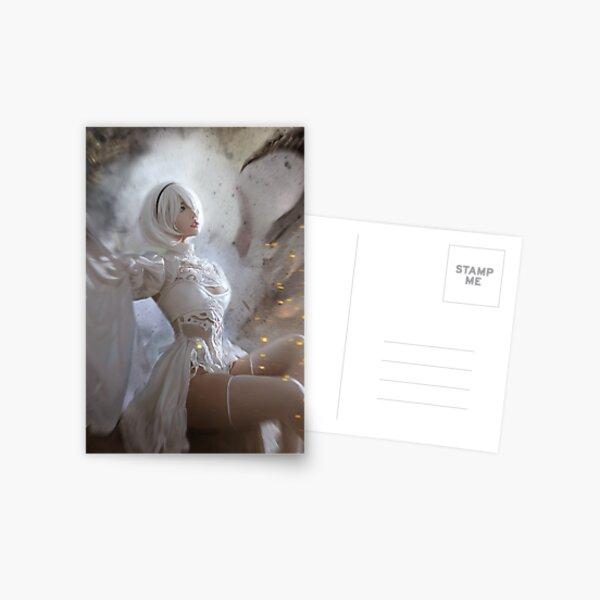 Nier Automata pretty 2B in White Game Ps4 Postcard