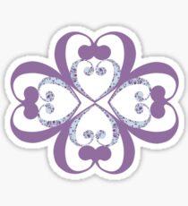 lotus plum Sticker