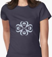 lotus blue Womens Fitted T-Shirt