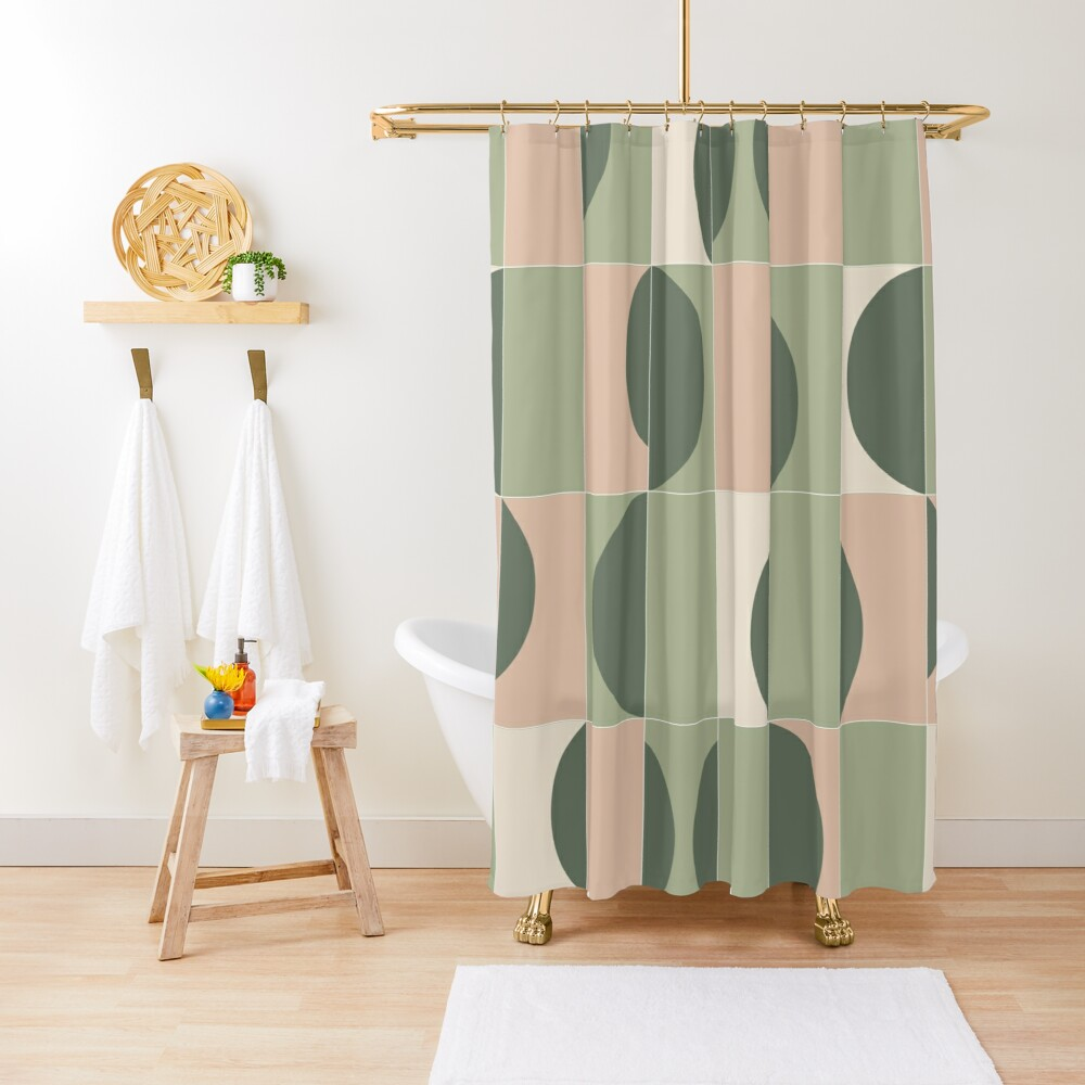 Garden Tiles 02 Shower Curtain