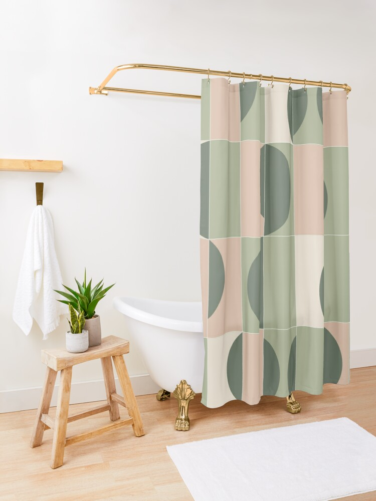 Alternate view of Garden Tiles 02 Shower Curtain