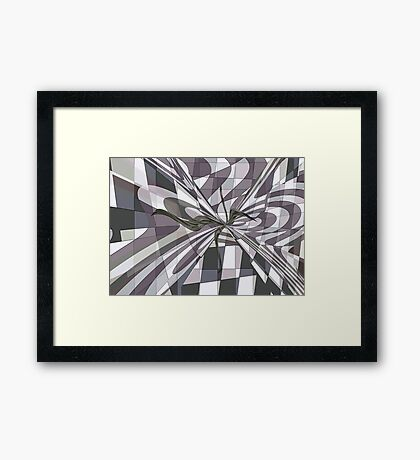 GRAY WITH A HINT OF COLOUR Framed Print