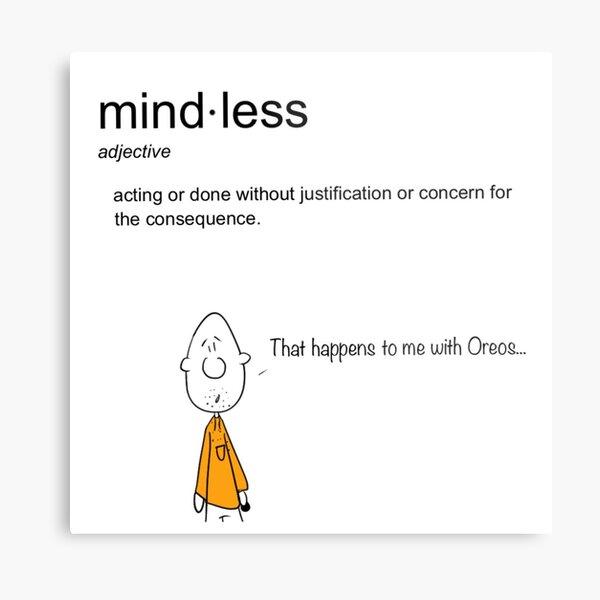 Mindless Cartoon Metal Print