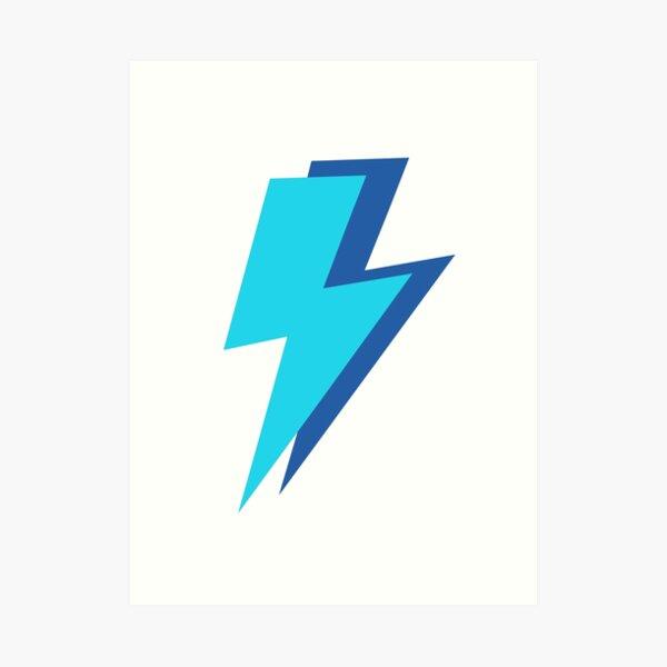 Blue Lightning Bolts  Art Print