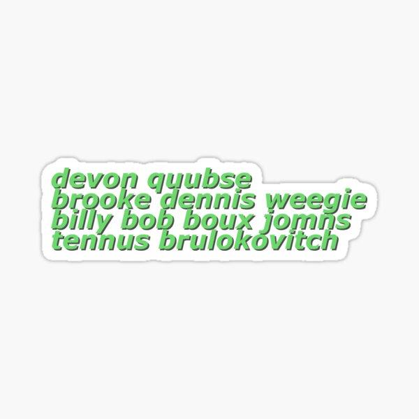 V Team 2 Names Text Sticker