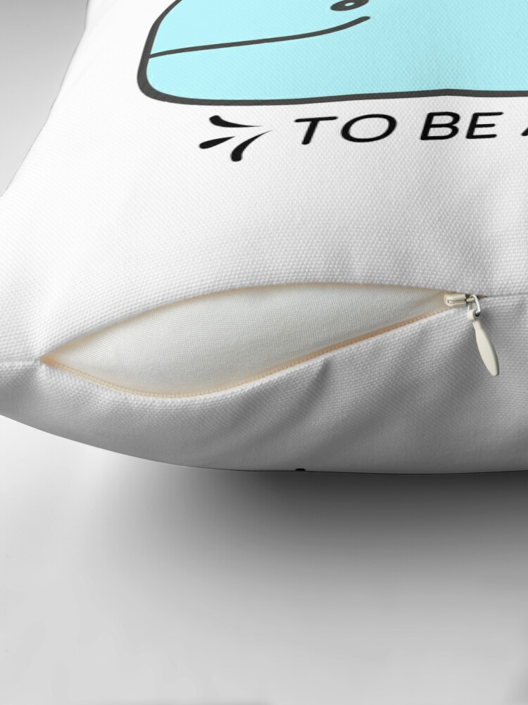 Alternate view of Whale it's a great day to be alive Throw Pillow