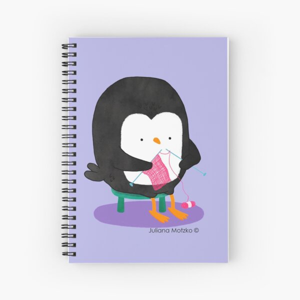 Tricot Penguin Spiral Notebook