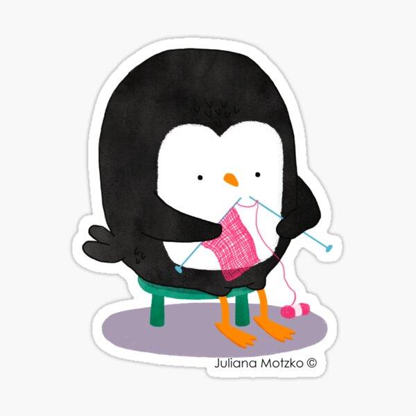 Tricot Penguin Sticker