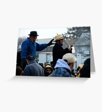 Amish Auctioneer Greeting Card