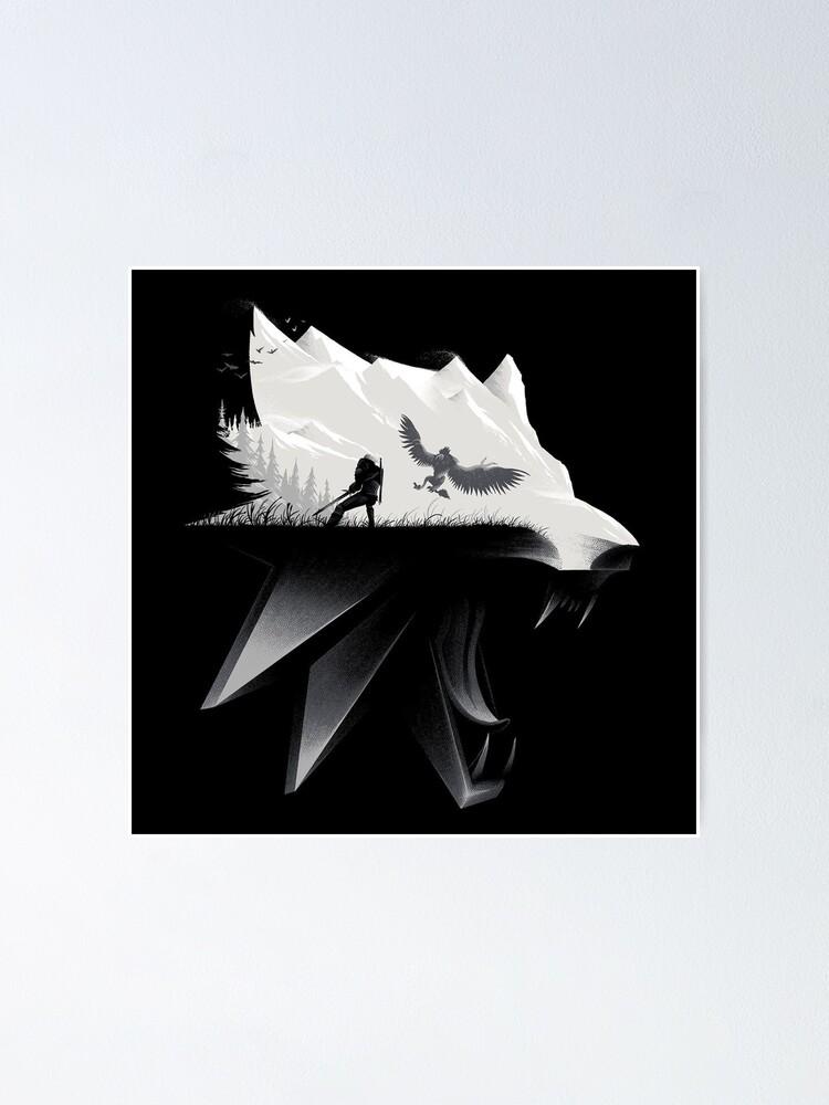 Mini affiche en métal The White Wolf The Witcher