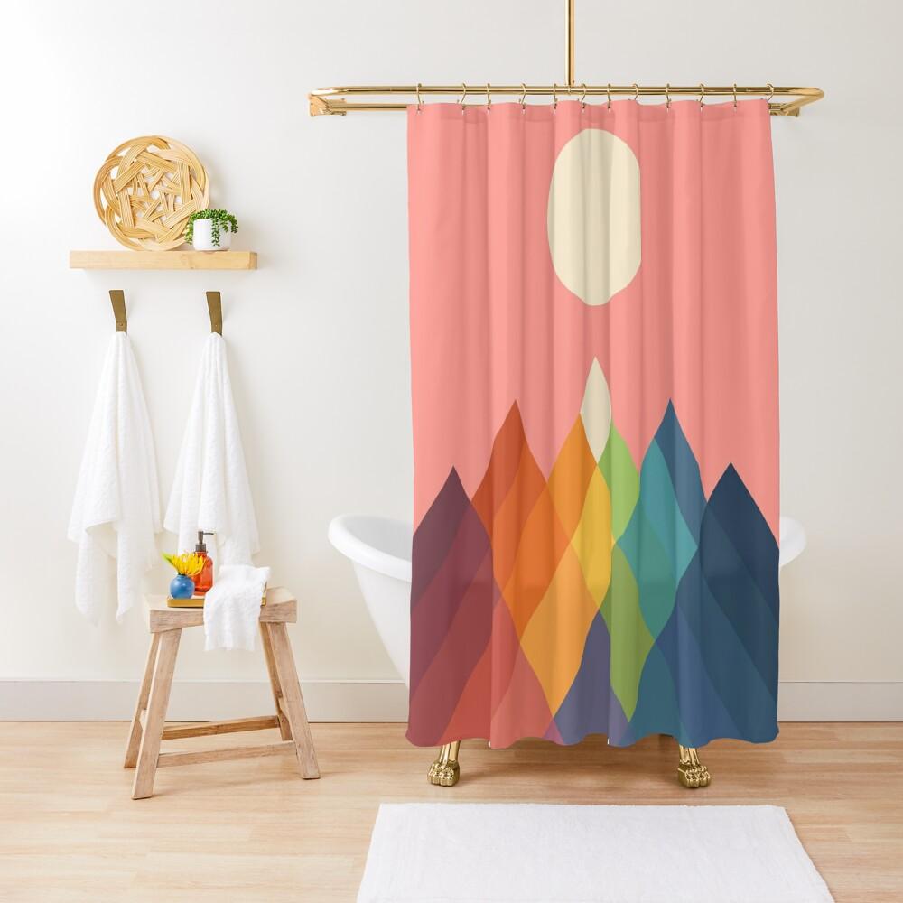 Rainbow Peak Shower Curtain