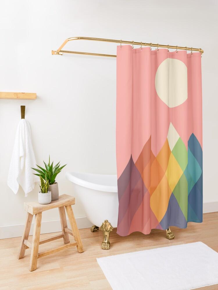 Alternate view of Rainbow Peak Shower Curtain