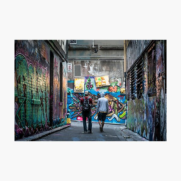 Graffiti Lane Photographic Print