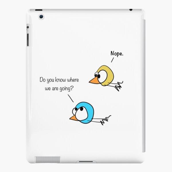 Where are We Cartoon iPad Snap Case