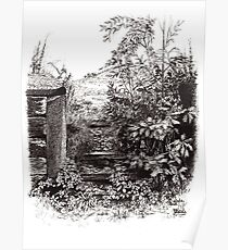 Gateway With Young Oak Tree Poster