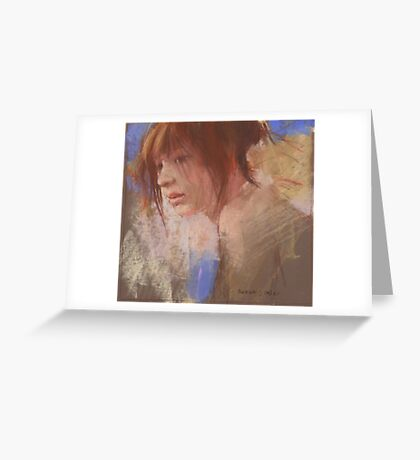 a pastel study Greeting Card