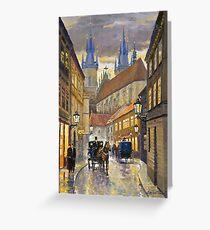 Prague Old Street Stupartska Greeting Card