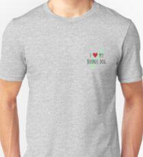 I Love My Boonie Dog Pocket Size (Green) Unisex T-Shirt