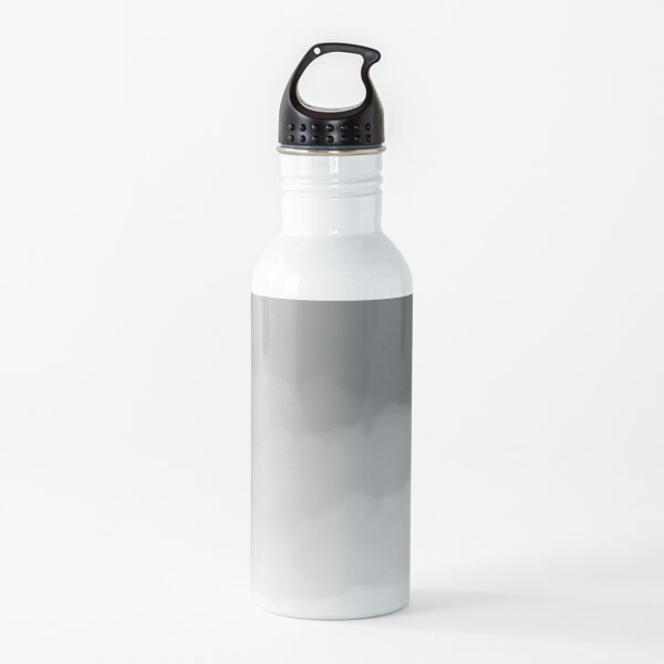 Gray Watercolor Ombre (gray/white) Water Bottle