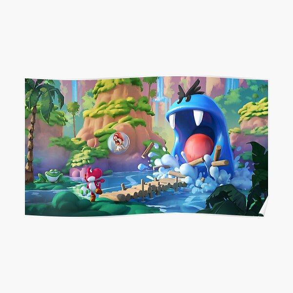 The blue monster Poster