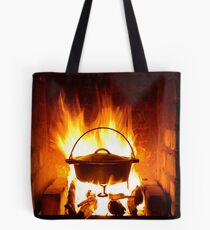 red flames.... Tote Bag