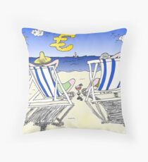 Binary Options Cartoon - G20 Ministers in Mexico Throw Pillow