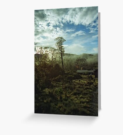 Misty Morning Cradle Mountain Greeting Card