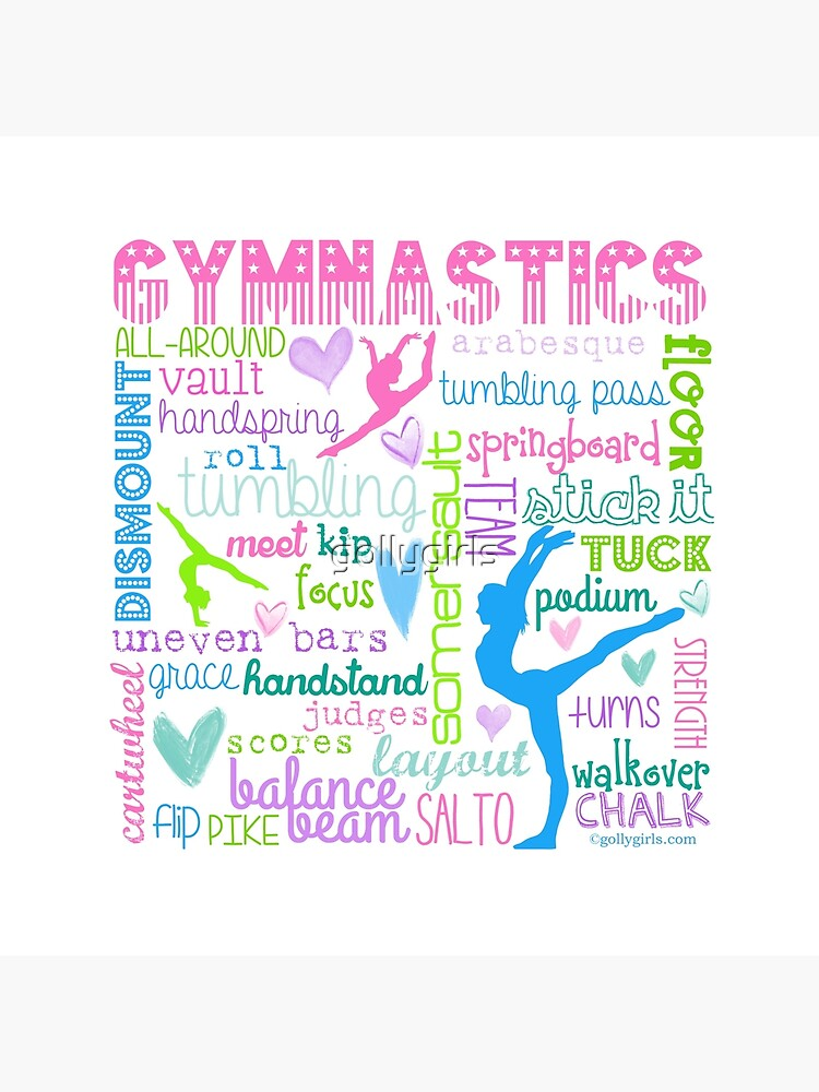 Gymnastics Typography in Pastels by gollygirls
