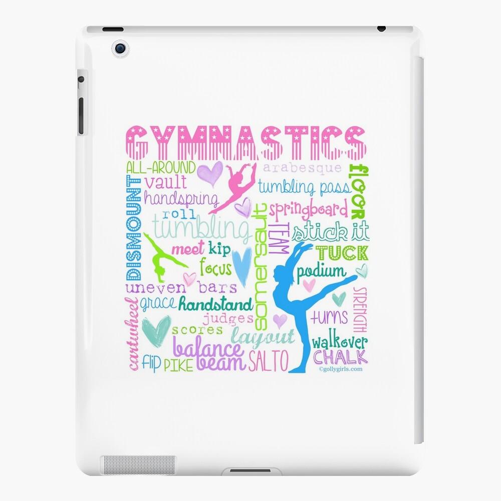Gymnastik Typografie in Pastellfarben iPad-Hüllen & Klebefolien