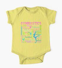 Gymnastics Typography in Pastels One Piece - Short Sleeve