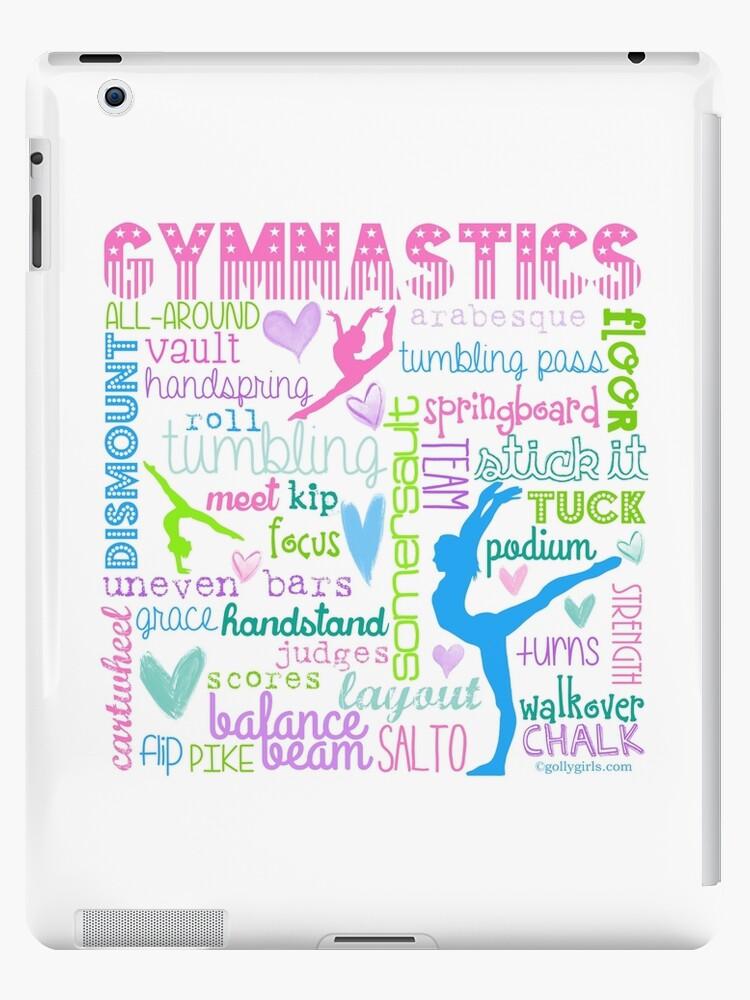 Gymnastik Typografie in Pastellfarben von gollygirls