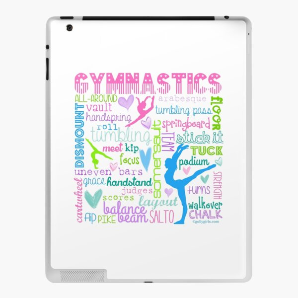 Gymnastics Typography in Pastels iPad Skin