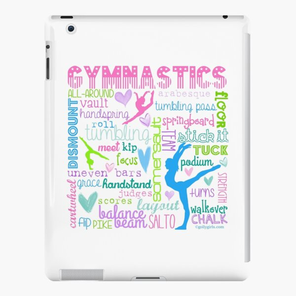 Gymnastics Typography in Pastels iPad Snap Case