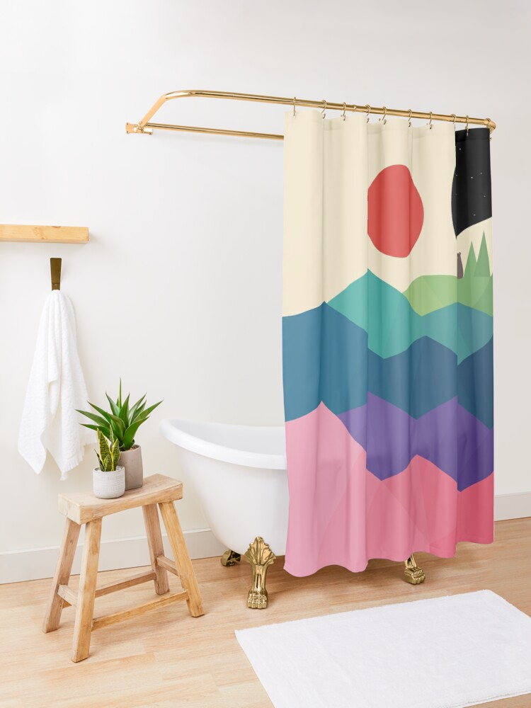 Alternate view of Over The Rainbow Shower Curtain