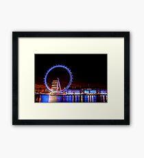 The London Eye at Night Framed Print