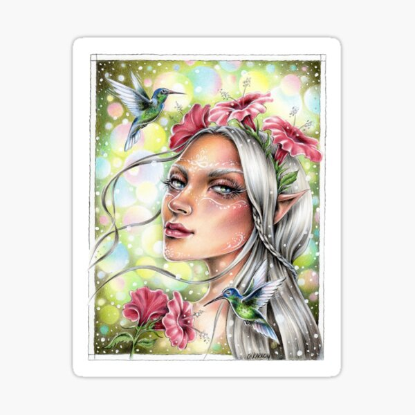 Hummingbird Fairy Sticker