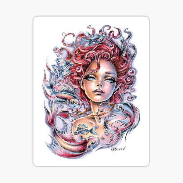 Mermaid's Heart Sticker